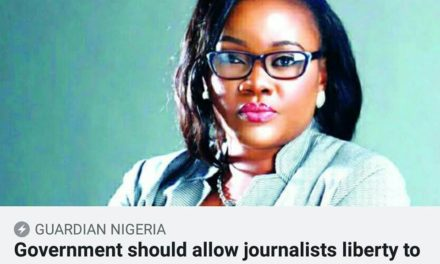 Government should allow journalists liberty to do their jobs without fear and intimidation