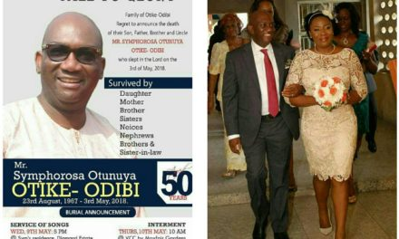 MAN KILLED BY LAWYER WIFE BURIED IN LAGOS
